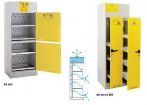 Ντουλάπες (μισή) Οξέων και (μισή) Βάσεων 600χιλ. κλειστές πόρτες ή με συρόμενα ράφια